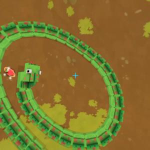 『Snake VR』- ワーム?ヘビゲーム?伸長するヘビに餌を食べさせ続ける懐かしいゲームのVRバージョン