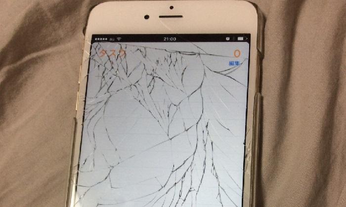 画面が破損してデータがみえなくなったiPhone