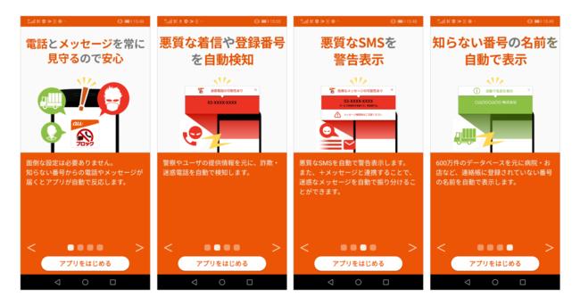迷惑メッセージ・電話ブロックの4つの機能